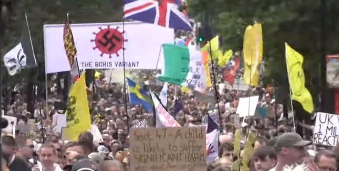 "Massive London Gathering/Protest, Lisbon Court Rules 152 COVID Deaths not 17000, FDA ""Stop Using Innova Antigen Test,"" Fake Ferguson Memo, Blowing COVID-19 Whistle"